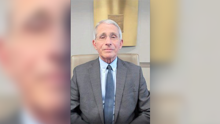 Dr. Anthony Fauci spoke during the virtual ceremony.
