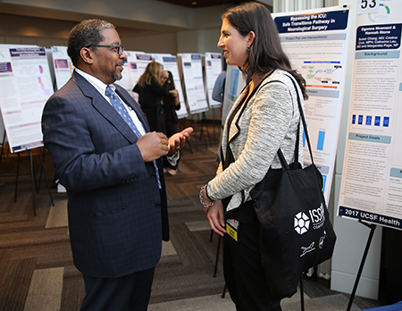 Dean Talmadge King and Medical Student Gabriela Weigel