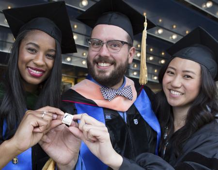 Jensara Clay, Eric Seymour and JoJo Yang at Graduation