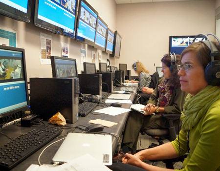 control room in the Kanbar Center