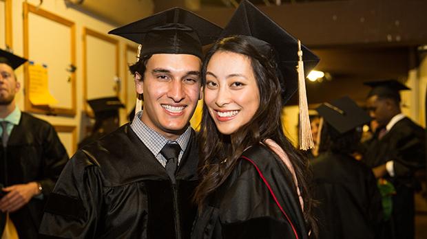 couple at graduation