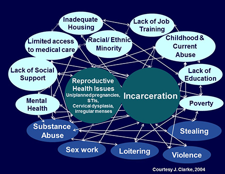 slide overview of health issues of incarcerated women