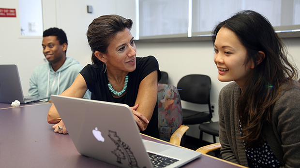 Medical Student Emily Wong with her coach Dr. Andrea Marmor