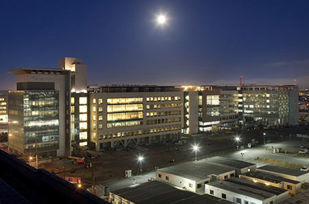 Mission Bay Hospitals at Night