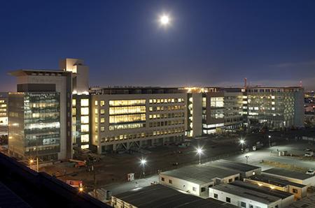 Mission Bay Hospitals at Night