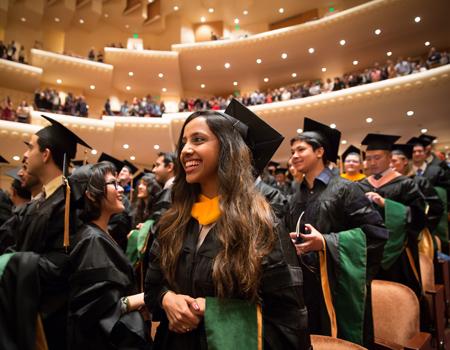medical students at graduation