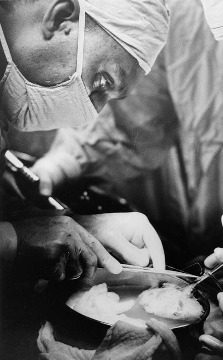 Samuel Kountz performing a Kidney Transplant