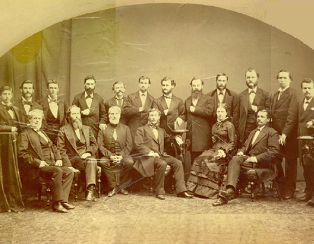 UCSF's first graduating Class of 1876