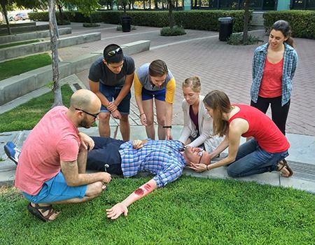 students learn wilderness training skills