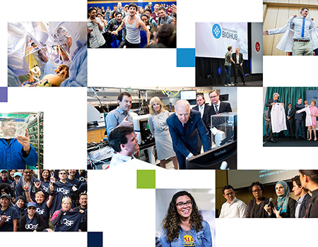 collage of UCSF news photos