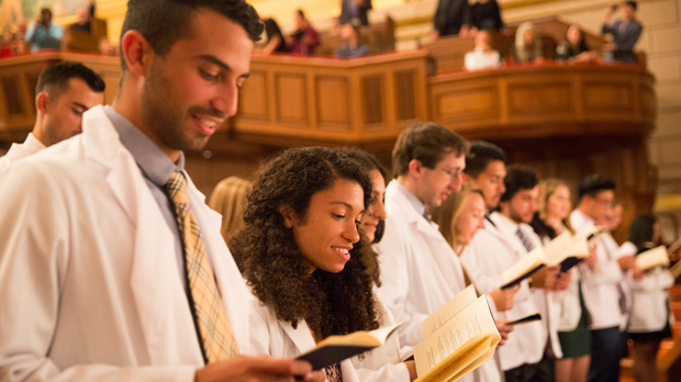 white coat ceremony declaration reading