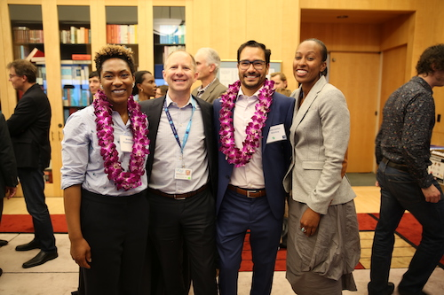 Staff and faculty at the 2018 Diversity Month Reception
