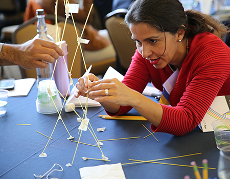 marshmallow tower challenge