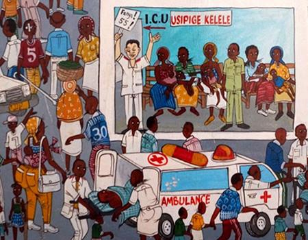 tanzania hospital mural